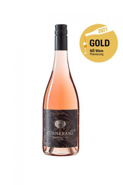Sparkling Pink Frizzante 2020 vom Weingut Fürnkranz mit NÖ Wein Gold Prämierung 2021