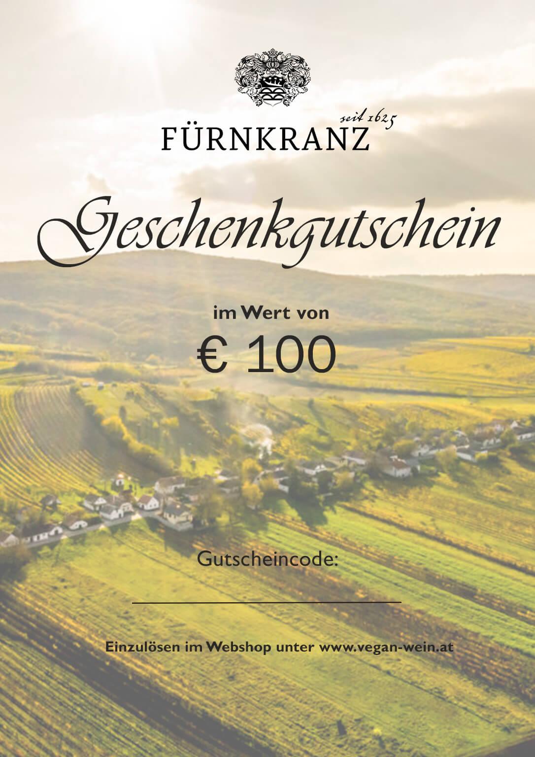 Geschenkgutschein Weingut Fürnkranz - €100