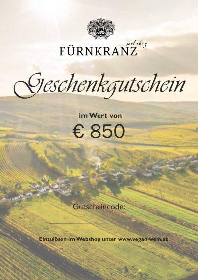 Geschenkgutschein Weingut Fürnkranz - €850