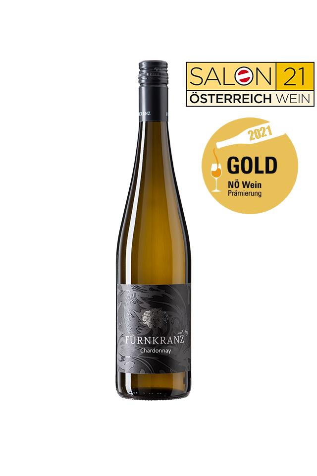 Chardonnay 2020 vom Weingut Fürnkranz mit Salon 2021 und NÖ Wein Gold Prämierung 2021