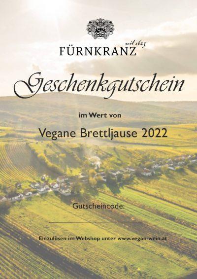 Geschnkgutschein Vegane Brettljause Weingut Fürnkranz 2022